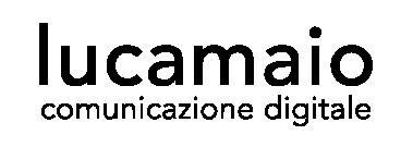Logo Luca Maio Comunicazione Digitale nero